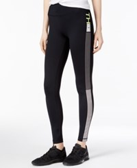 Tommy Hilfiger Sport Leggings A Macy's Exclusive Style Black Key Lime