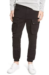 Men's Publish Brand 'Crow' Woven Cargo Jogger Pants Black