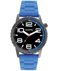 Unlisted Men's Blue Silicone Strap Watch 45Mm Ul1301