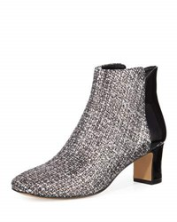 Donald J Pliner Jakkqe Low Heel Boucle Bootie Black Whit