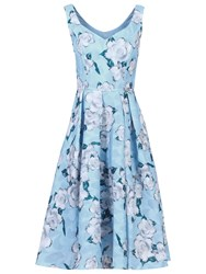 Jolie Moi Textured Prom Dress Blue