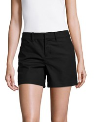 Lord And Taylor Kelly Solid Cotton Blend Shorts Black