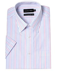Double Two Stripe Classic Fit Classic Collar Formal Shirt Multi Coloured