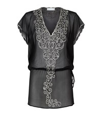Elizabeth Hurley Beach Florenza Silk Tunic Female Black