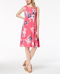 Jm Collection Petite Printed A Line Dress Created For Macy's Pink Garden