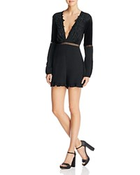 For Love And Lemons Laney Lou Romper Black