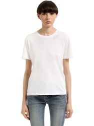 Saint Laurent Je T'aime Cotton Jersey T Shirt
