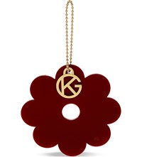 Kurt Geiger Flower Bag Charm Wine