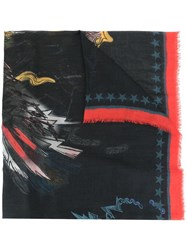 Zadig And Voltaire Kerry Eagle Scarf Black