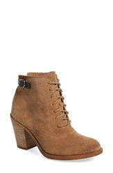 Lucky Brand Women's 'Echoh' Lace Up Bootie Sesame Suede