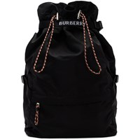 Burberry Black Drawstring Backpack