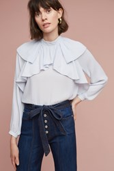 Anthropologie Aeliana Ruffled Blouse Lavender