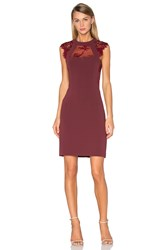 The Kooples Lace Cut Out Dress Burgundy