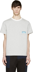 Wanda Nylon Heather Grey Window Pocket T Shirt