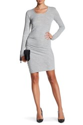 Research And Design Long Sleeve Dress Gray