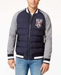 Tommy Hilfiger Men's Hanover Baseball Jacket Navy Blazer