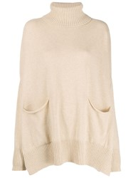 Ma'ry'ya Oversized Funnel Neck Sweater Neutrals