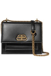 Balenciaga Sharp S Leather Shoulder Bag Black
