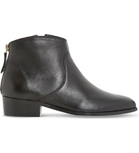 Dune Pearcey Leather Ankle Boots Black Leather