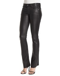 Rta Denim Jackson Leather Boot Cut Pants Black