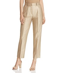 Emporio Armani Cropped Metallic Pants Gold