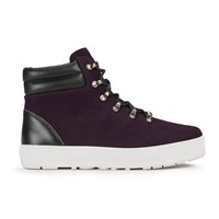 F Troupe Women's Suede Lace Up Hiker Boots Purple
