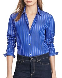 Ralph Lauren Pinstripe Button Down Tunic French Blue White