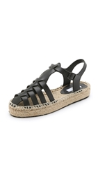 Miista Ariella Espadrille Jelly Sandals Black