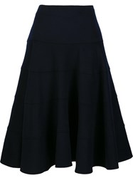 Victoria Beckham Full Midi Skirt Blue