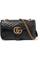 Gucci Gg Marmont Small Quilted Leather Shoulder Bag Black
