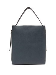 Valextra Adjustable Strap Grained Leather Tote Bag Navy