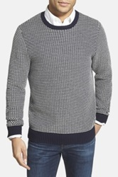 Wallin And Bros Regular Fit Striped Crewneck Sweater Blue
