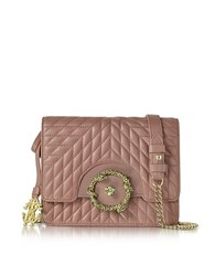 Roberto Cavalli Small Cappuccino Nappa Star Quilted Leather Shoulder Bag Nude