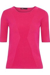 Maje Woman Musa Stretch Knit Top Fuchsia