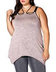 Mblm By Tess Holiday Plus Strappy Sharkbite Sleeveless Top Pale Mauve
