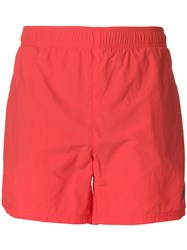 Hugo Boss Logo Swimming Trunks Red