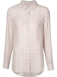 Equipment Checked Print Shirt Nude Neutrals