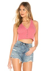 Free People Picnic Halter Top Red