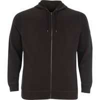 River Island Mensbig And Tall Black Zip Front Hoodie