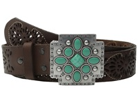 Ariat Southwest Cross Buckle Pierced Belt Brown Women's Belts