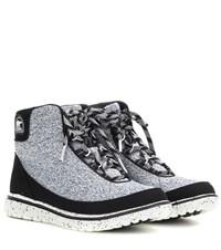 Sorel Tivoli Go High Fabric Ankle Boots Grey
