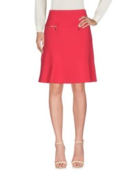 Diana Gallesi Knee Length Skirts Red