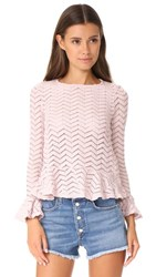 English Factory Top With Ruffle Details Antique Rose