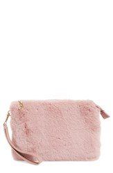 Chelsea 28 Chelsea28 Astley Faux Fur Convertible Clutch Pink Pink Zephyr