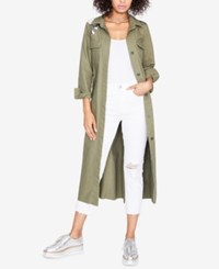 Rachel Roy Cotton Embroidered Duster Jacket Created For Macy's Army