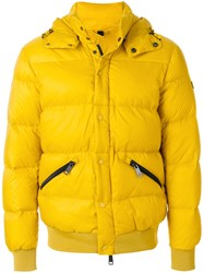 Armani Jeans Classic Puffer Jacket Feather Down Polyamide Polyester Duck Feathers Yellow Orange