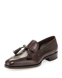 Tom Ford Austin Tassel Tie Loafer Brown