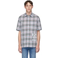 Burberry Blue Vintage Check Oversized Sandor Shirt