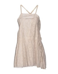 Manila Grace Short Dresses Beige