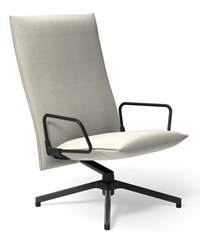 Knoll Pilot By Lounge Chair High Back With Loop Arm